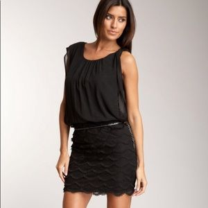 GUESS loose on top, fitted bottom dress